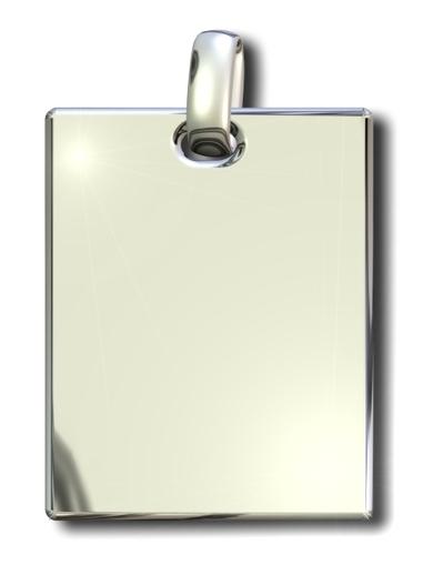 Gravur Silber 925 Höhe 27 mm Breite 20 mm ♥♥♥ ♥♥♥ Gravurplatte rechteckig Inkl